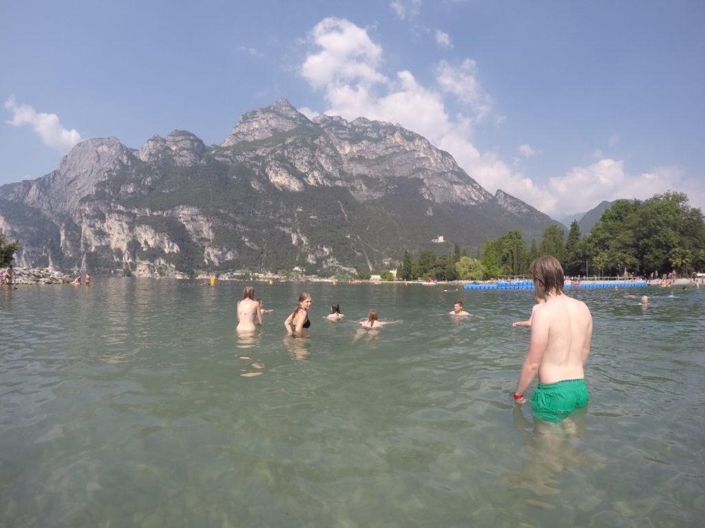 Ein letztes Bad im Gardasee bevor es nach Hause geht